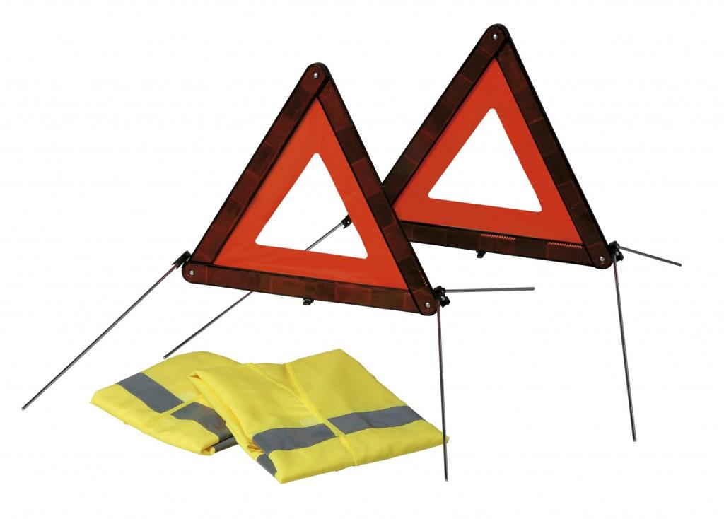 Triángulos de emergencia y chaleco